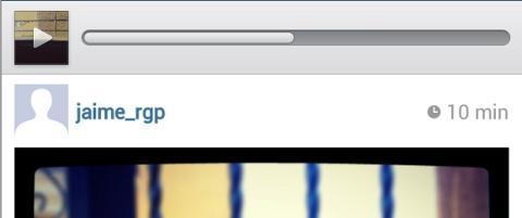 Barra de progreso de vídeo en Instagram