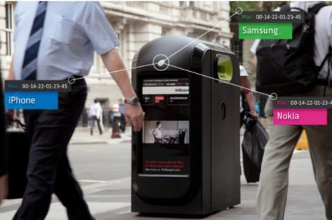 Papeleras inteligentes rastrean transeúntes en Londres