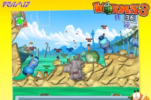 Worms 3, exclusivo para iOS