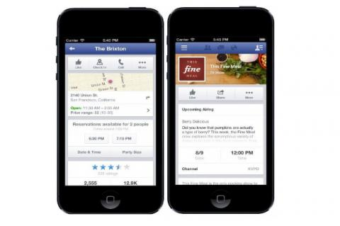Facebook Pages integra servicio de OpenTable
