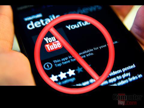 Google bloquea el acceso a Youtube desde la app para WPhone