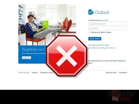 caída outlook.com