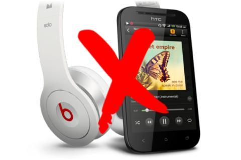 Auriculares Beats Audio y móvil HTC