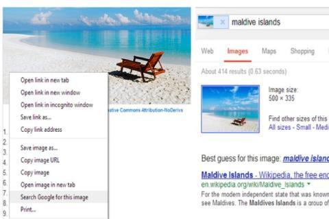 Chrome 30 beta introduce nueva opción búsqueda imágenes