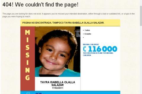 La nube de Amazon ayuda a encontrar niños desaparecidos