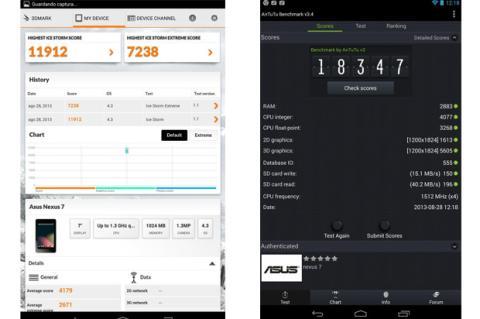 Benchmarks Nexus 7 nueva
