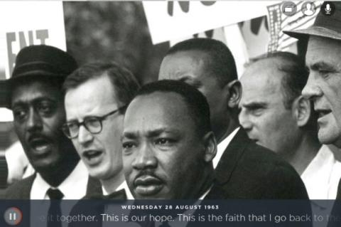 "El mítico discurso de Martin Luther King ""I have a dream"", según Google"