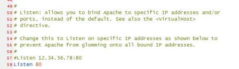 Edita la configuración de Apache