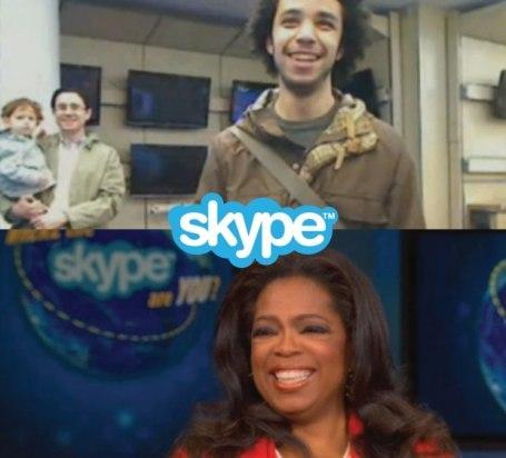 Oprah Winfrey y Skype