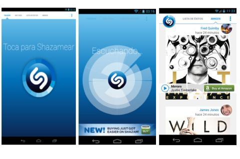 Shazam 4.0 para Android