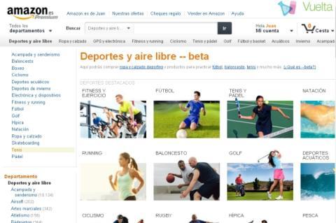 Amazon.es estrena nueva tienda de Deportes y Aire Libre