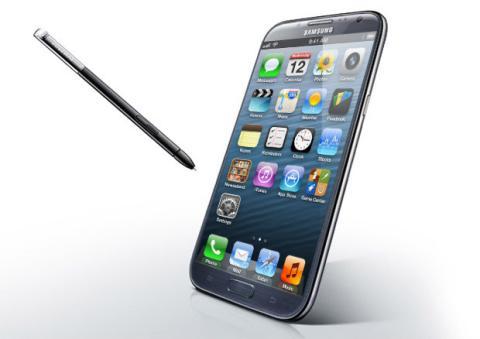 Samsung con pantalla Apple