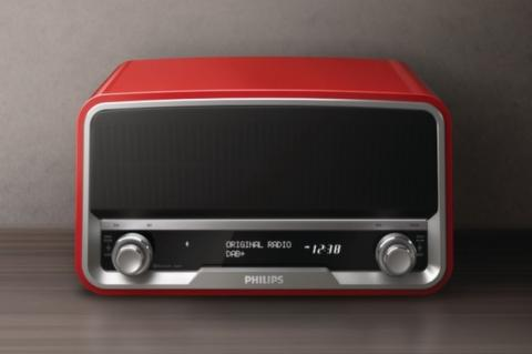 Philips Original Radio en rojo