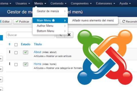 Configura la navegación de tu web con los menús de Joomla