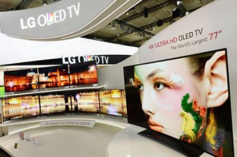 LG presenta TV 4K con pantalla OLED curvada de 77 pulgadas