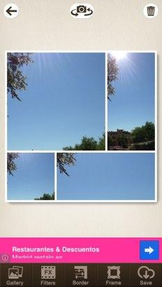 Haz las fotos con la cámara en Pic Collage Editor