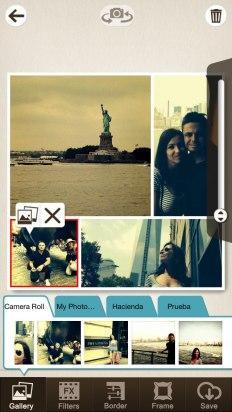Carga fotos de la galería en Pic Collage Editor