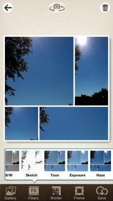 Aplica un filtro en Pic Collage Editor