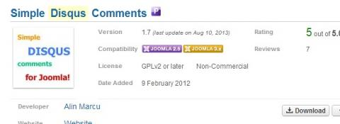 Simple Disqus Comments para Joomla