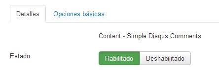 Habilita el plugin de comentarios en Joomla