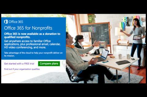 Captura de pantalla Office 365