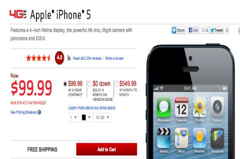 iPhone 5 ya es 100 dólares más barato en Estados Unidos