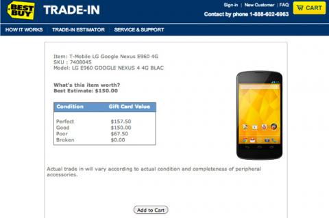 Best Buy quiere tu Nexus 4