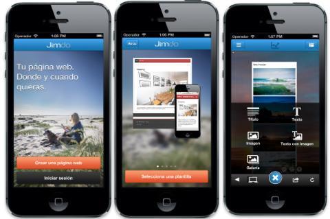 Jimdo lanza su app para iOS en España y Latinoamérica