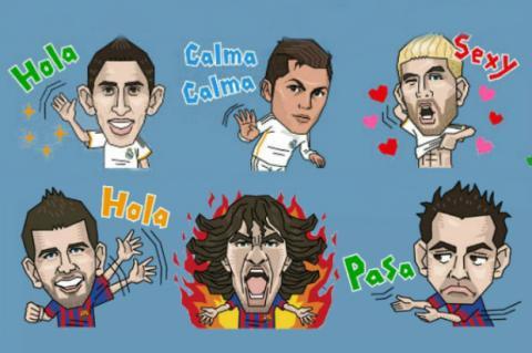Madrid y Barça en Line