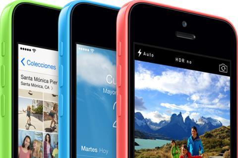 Foto en detalle del iphone 5c