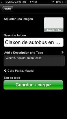 Guarda el mensaje de audio en AudioBoo