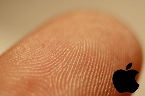 Huella dactilar con logo de Apple