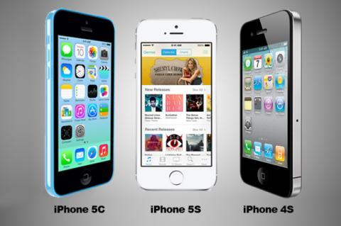 iPhone 4S, iPhone 5C y iPhone 5S comparativa