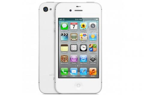 iPhone 4S en blanco