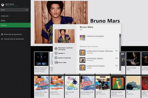 Xbox Music en Windows 8.1
