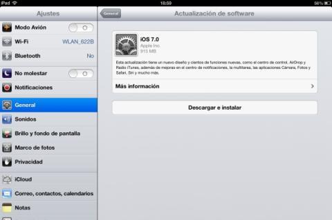 iOS 7 para iPad