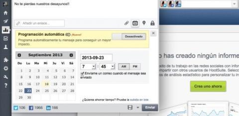 Publica actualizaciones simultáneas en Hootsuite