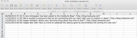 Programa publicaciones en lote en HootSuite