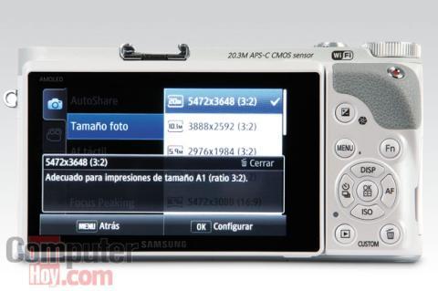 Pantalla Samsung Smart Camera NX300