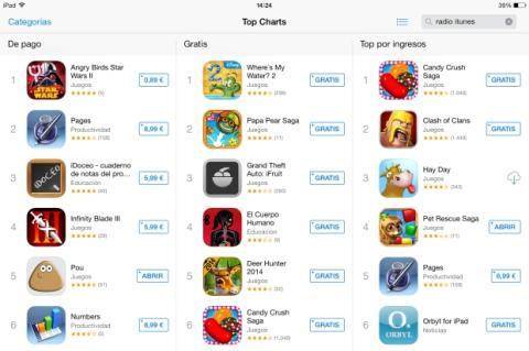 iOS 7 sube el límite de descargas de apps con redes móviles 3G y 4G