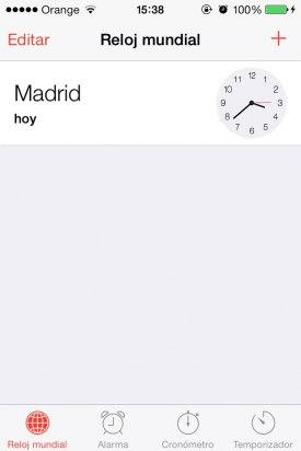Reloj iOS 7