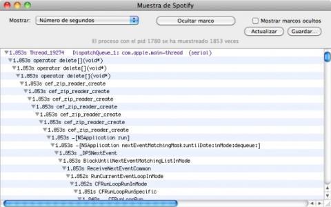 Muestrea los procesos en el Monitor de Actividad de tu Mac