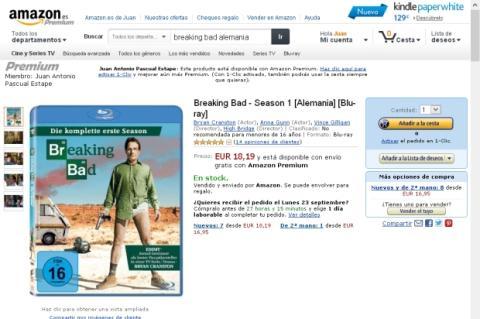 Amazon.es vende ediciones extranjeras