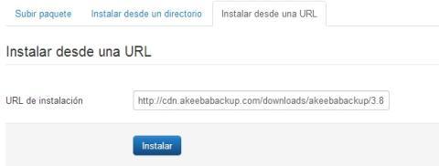 Instalar Akeeba desde una URL directamente