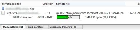 Sube el fichero JPA a tu servidor FTP para Joomla