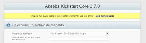 Inicia Kickstart