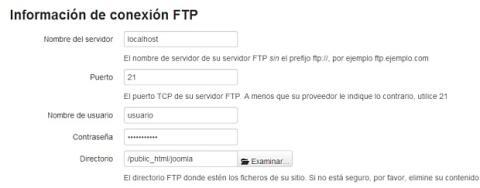 FTP para el instalador