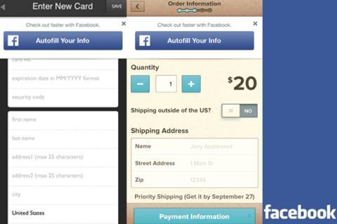 Autofill with Facebook, nueva función para compras in-app