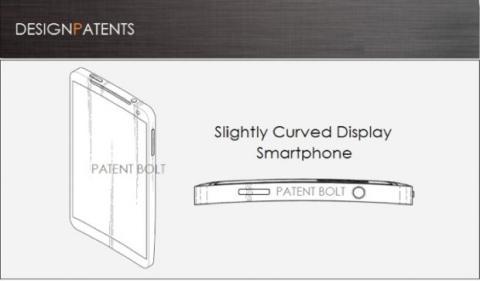 Samsung patentiza diseño de smartphone curvado (imagen por Patent Bolt)