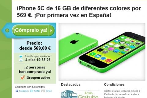 Compra el iPhone 5C en oferta en Groupon